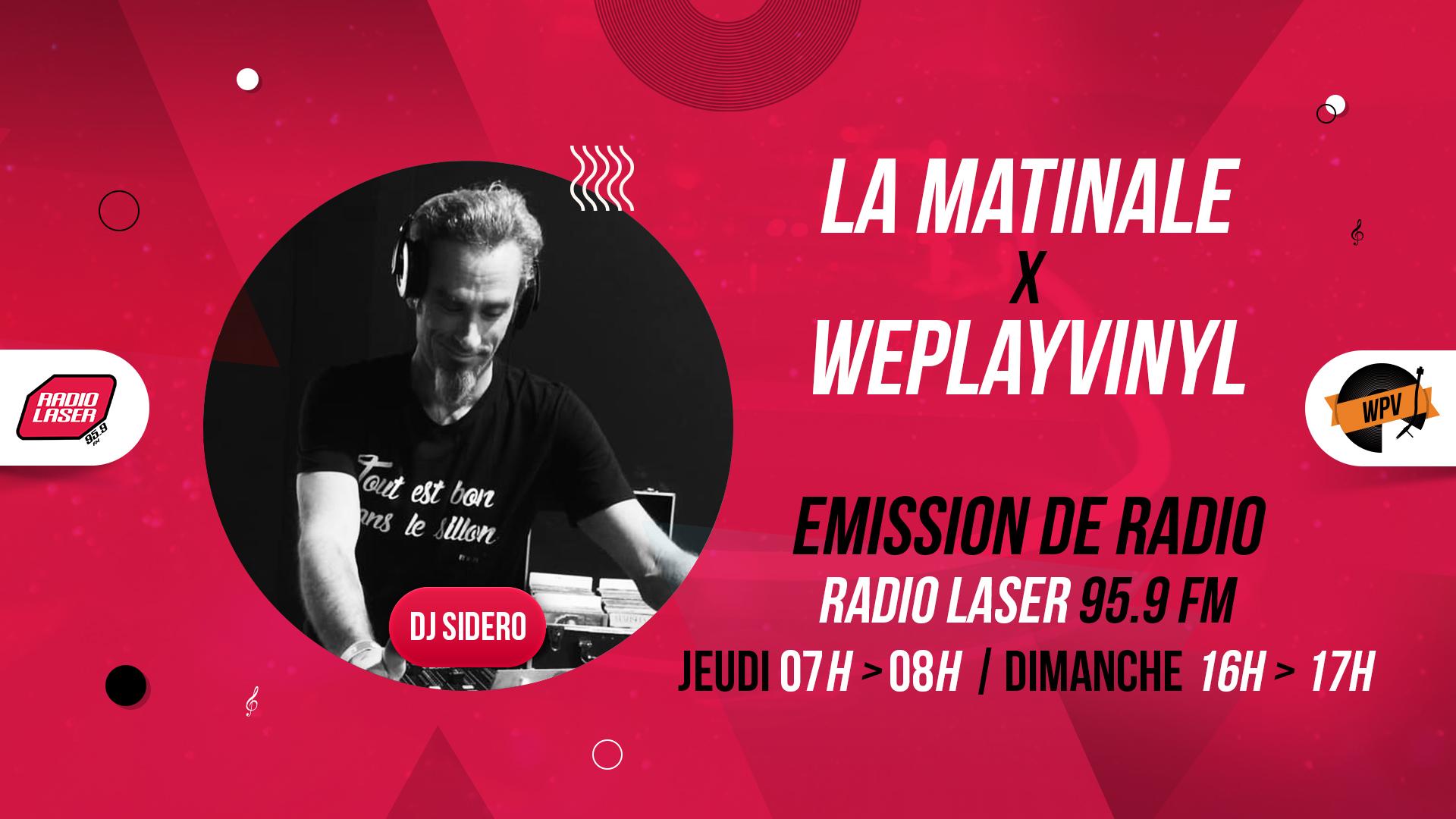 Header de La matinale - Emission de radio - Sidero - Radio laser